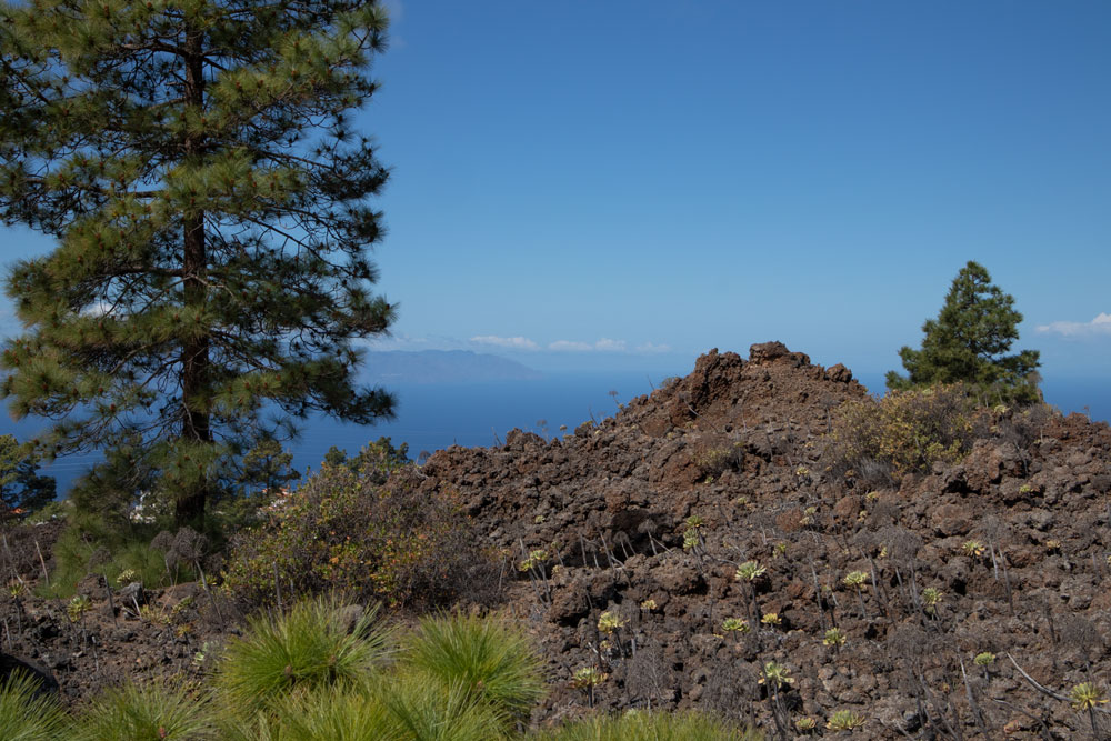 View from the top to the neighbouring islands La Gomera and La Palma