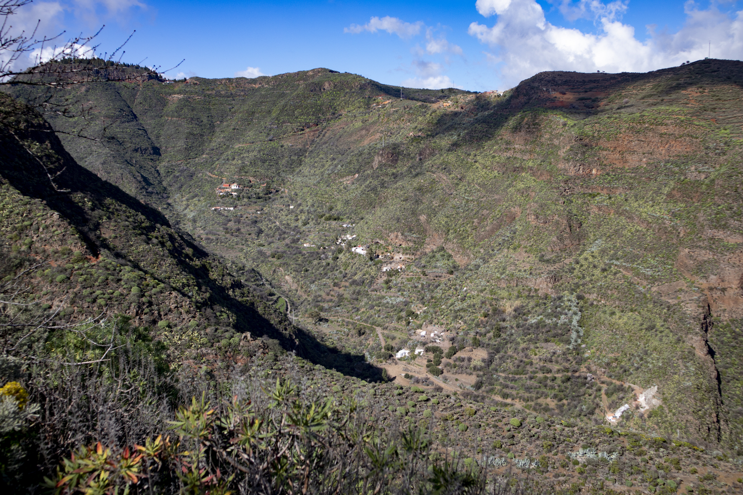 View to the upper part of the Barranco de Guayadeque
