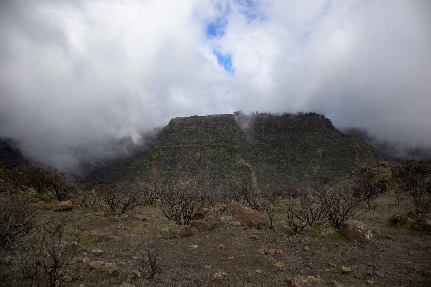 Clouds are gathering over the Barranco de Guayadeque