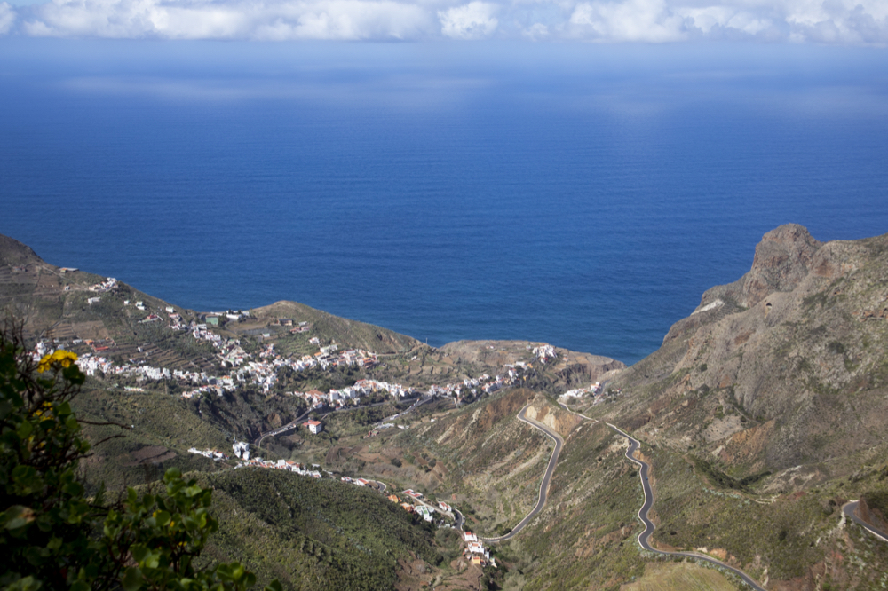 View from the height (Bailadero) on Taganana and the sea