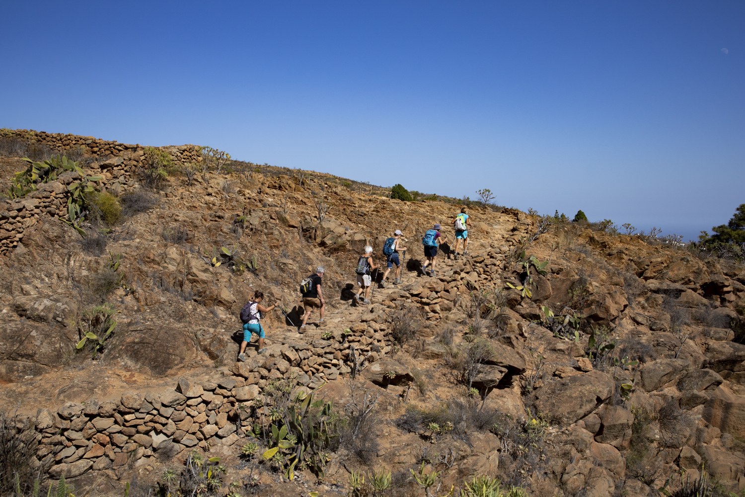 Ascent in the Barranco
