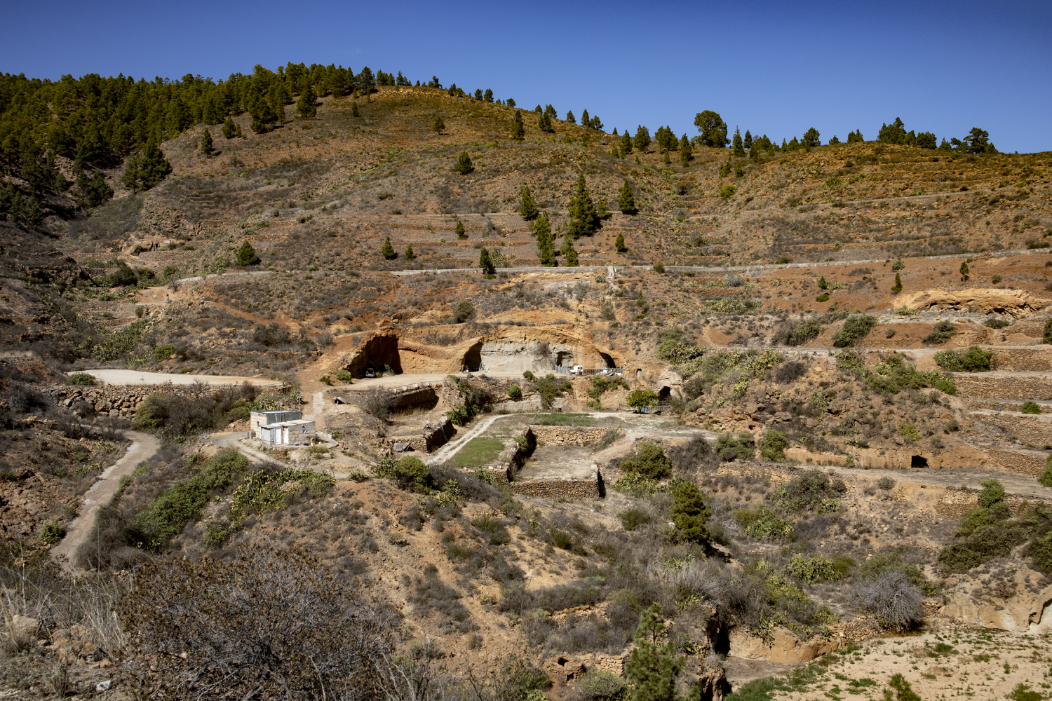 single fincas, cave houses and terraced landscapes