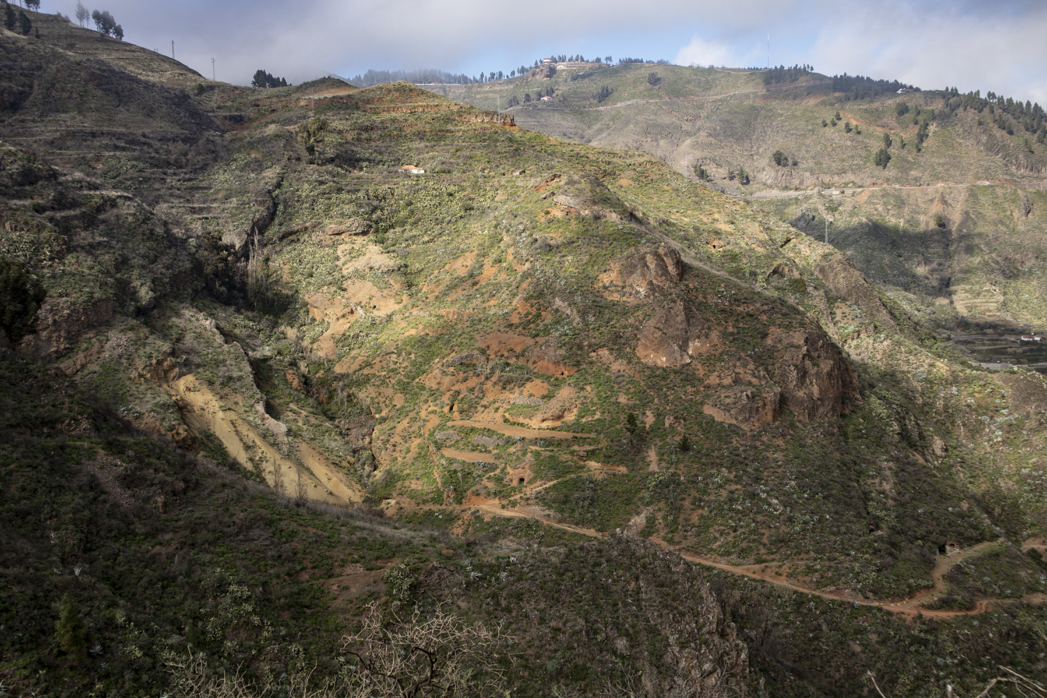 View into the Barranco de la Mina