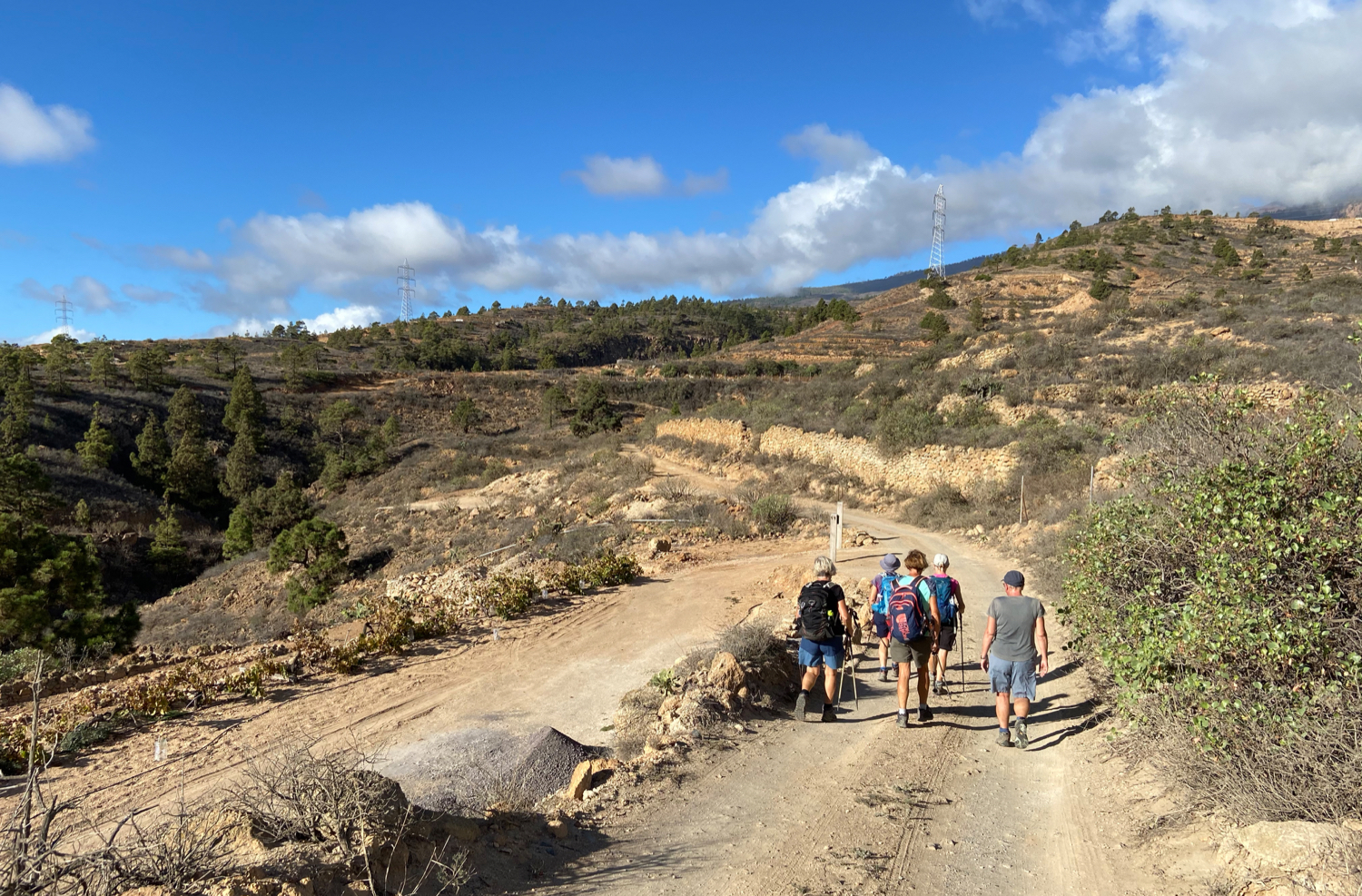 Hiking trail behind La Sabinita