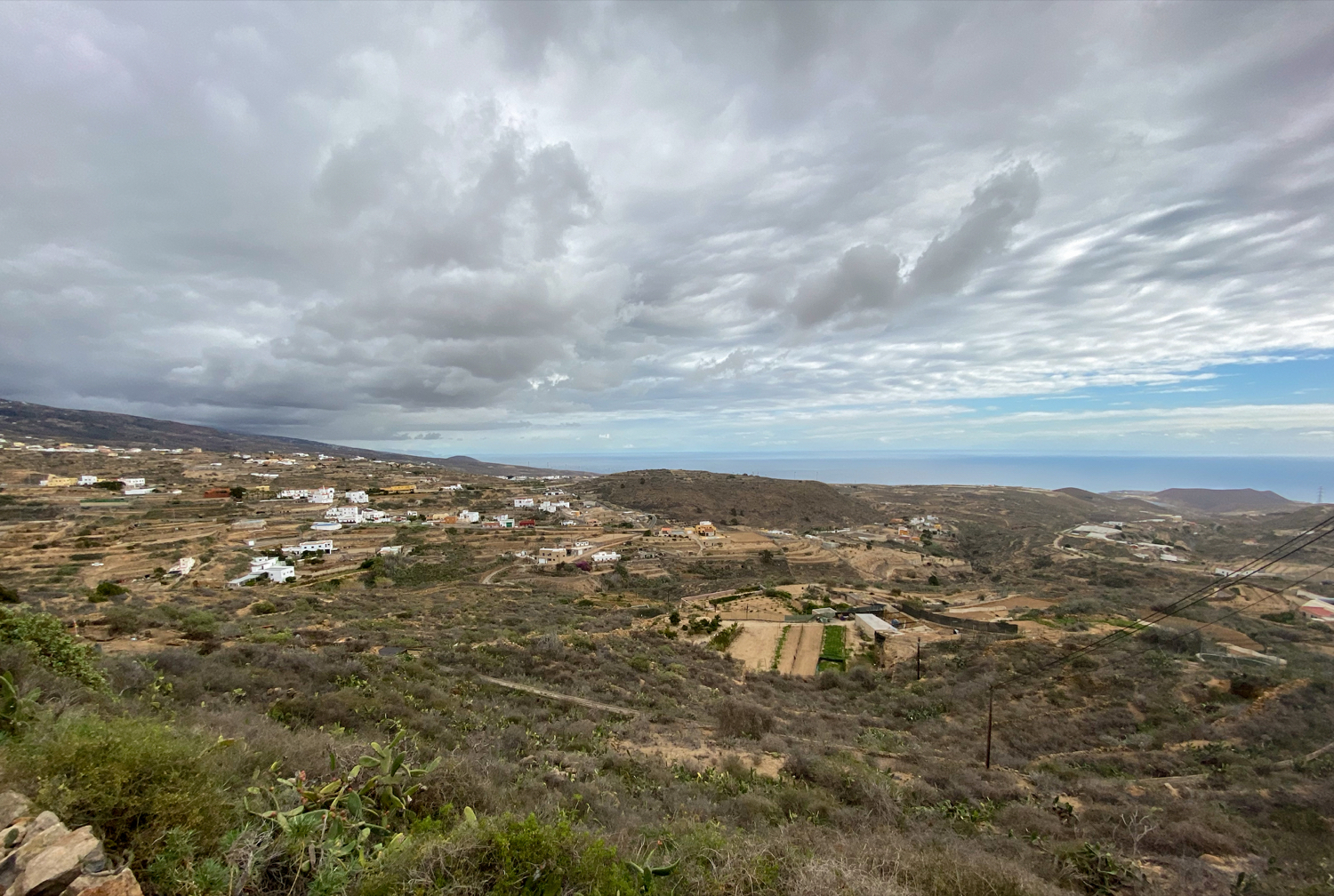 View from the heights to the east coast of Tenerife