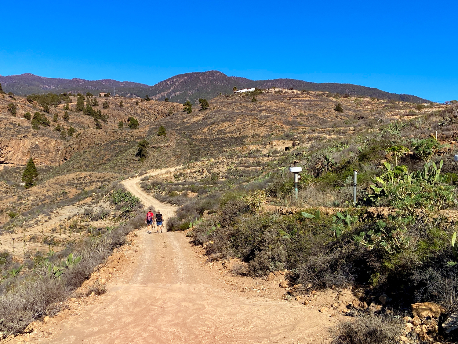 Hiking trail towards Barranco Tamadaya