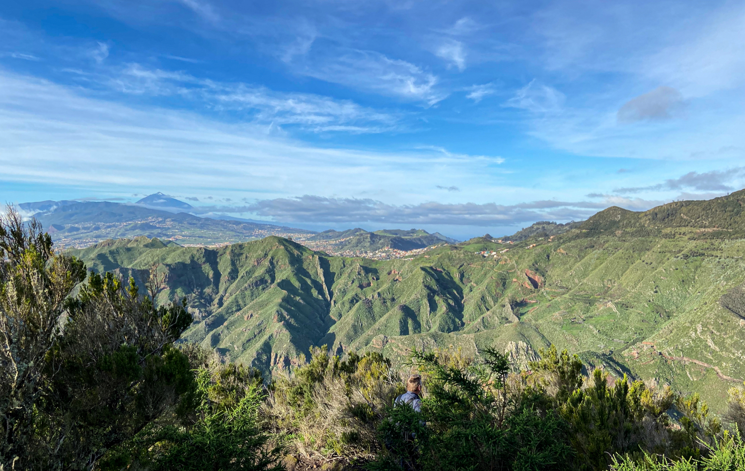 View over the Anaga Heights from the hiking trail - near Pico del Ingles