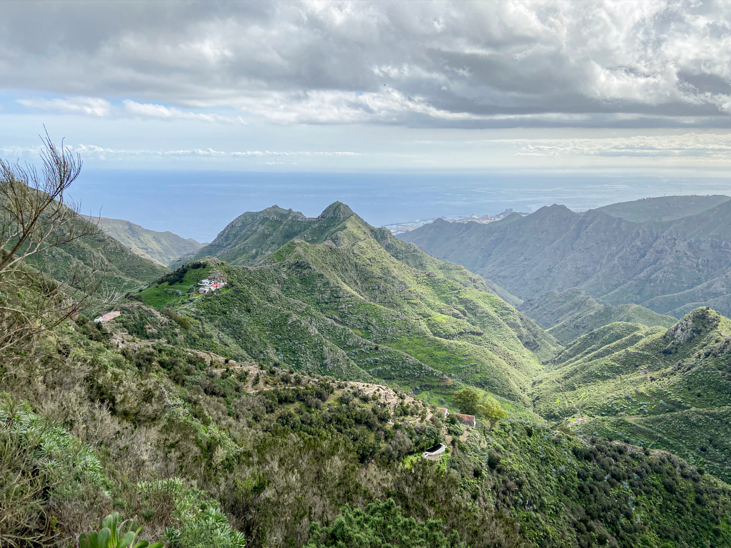 View from Los Berros to the Fortaleza and the Barranco de Valle Luis
