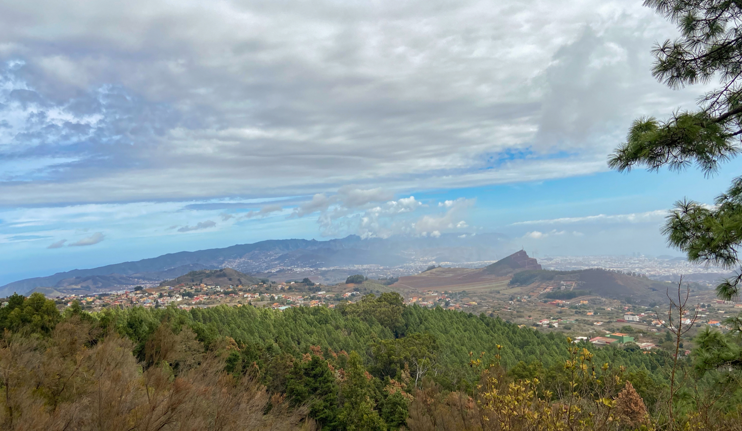 View from the heights of the north of Tenerife and the Anaga Mountains