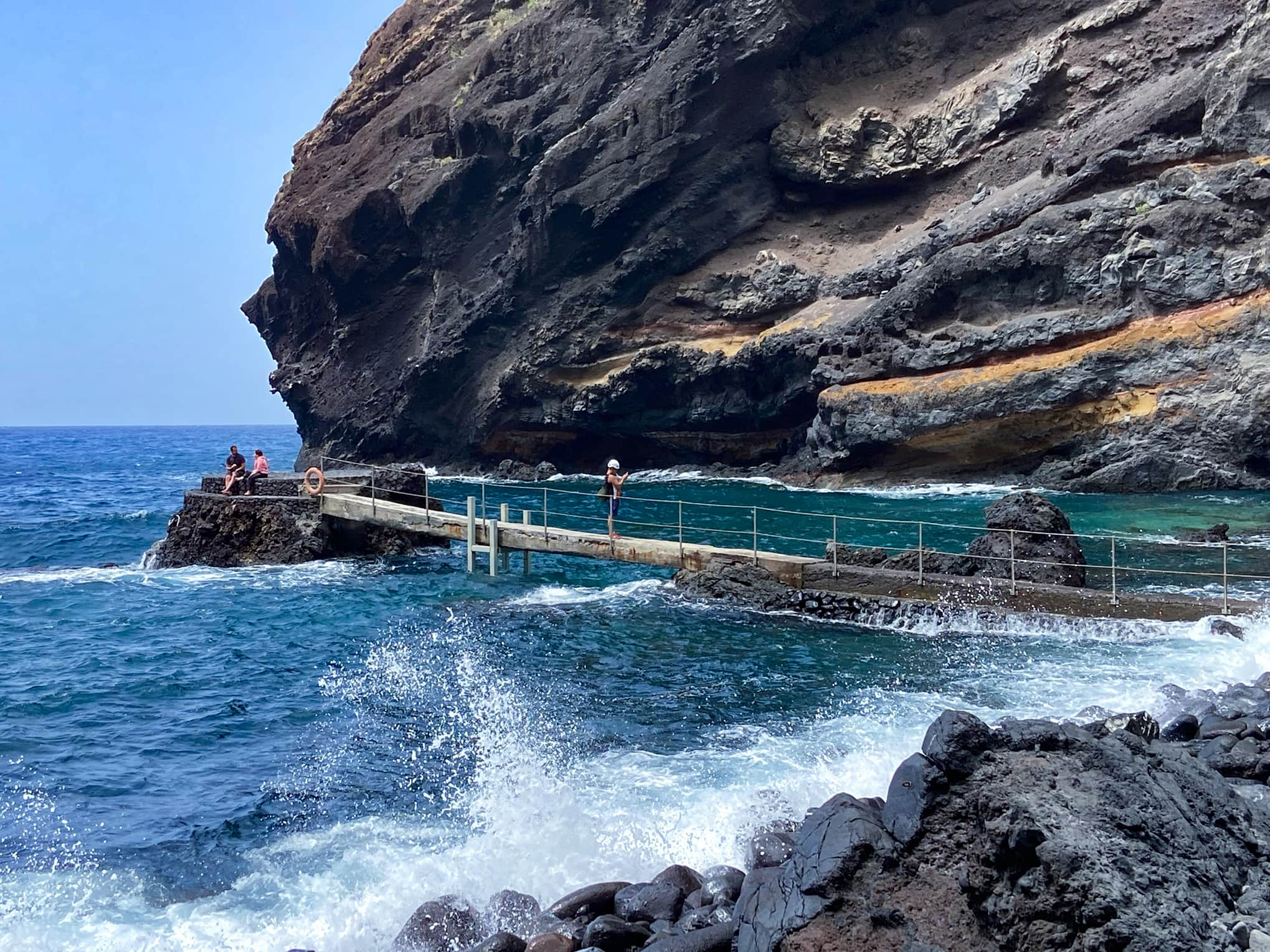 the old jetty on Masca beach