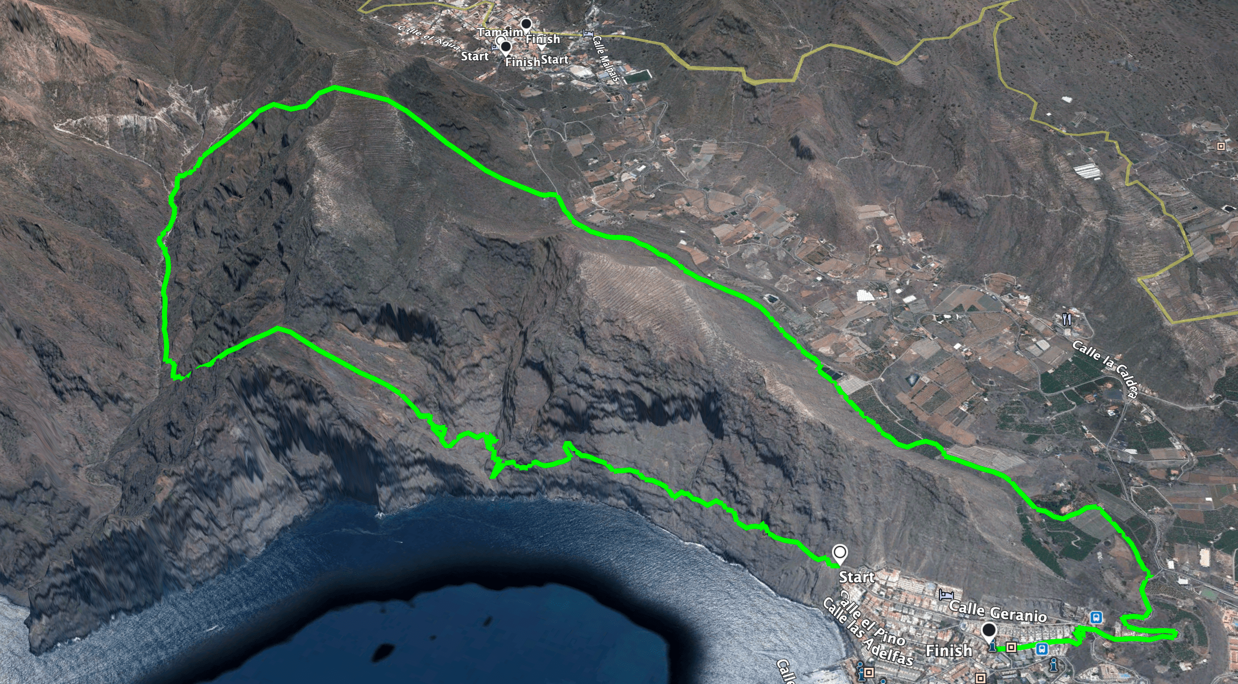 track of the hike double tunnel trip