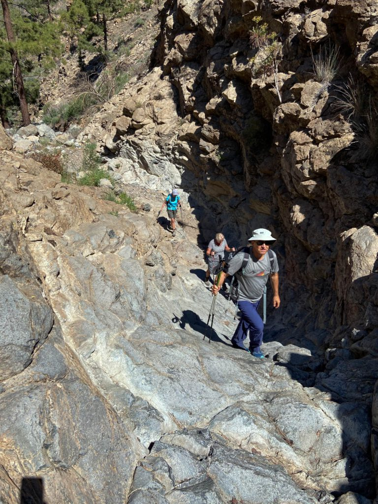 small extension and change - hiking in the Barranco