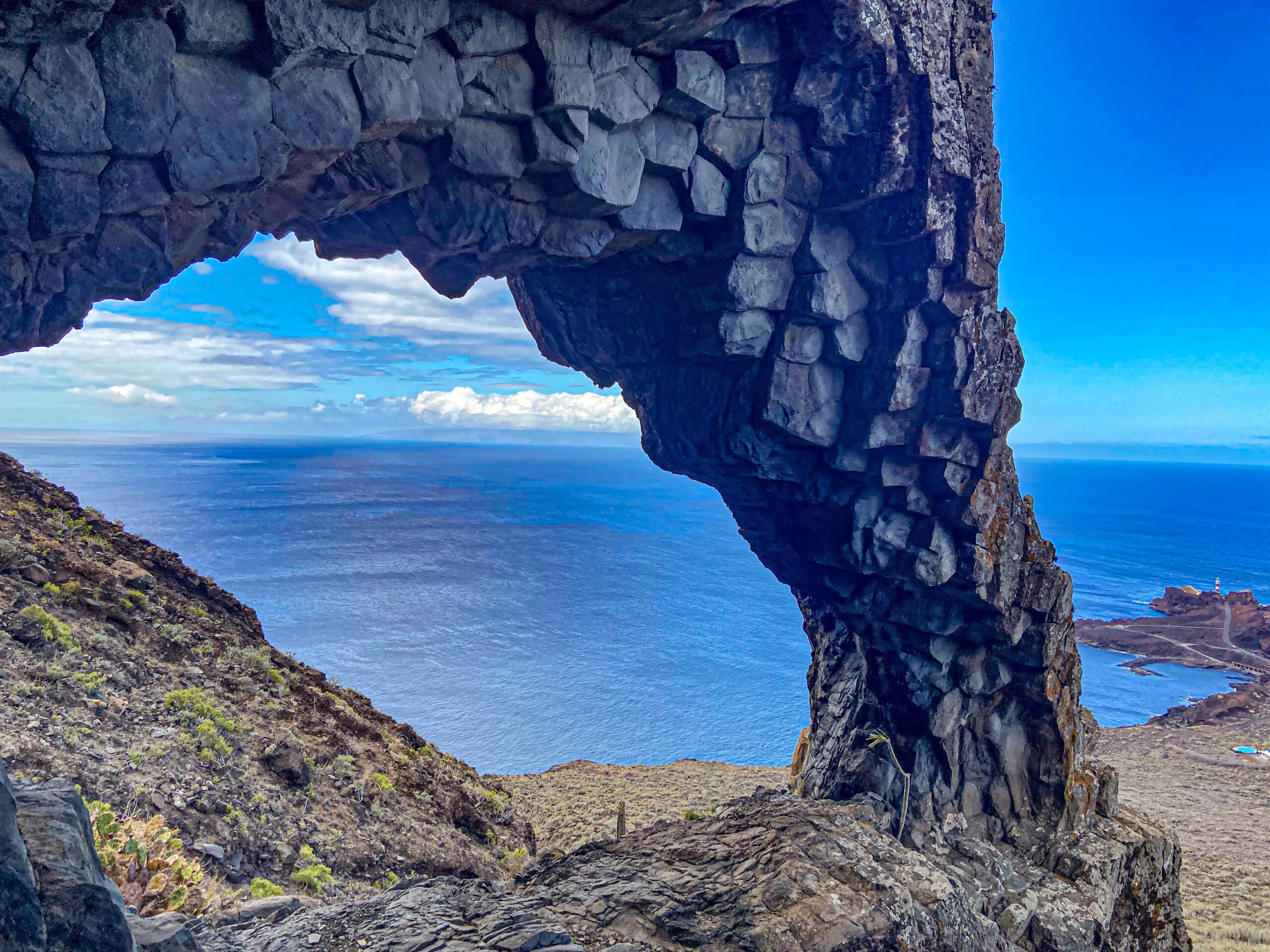 View from the rock gate to Punta Teno